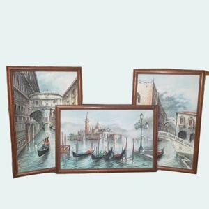 Stunning Original Art Grouping Scenes of Venice